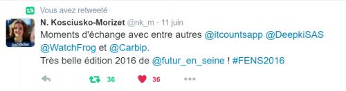 La députée Nathalie Kosciusko-Morizet nous a tweeté et nous sommes super contents !