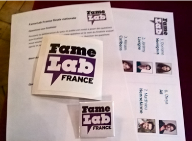 Famelab goodies